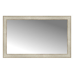 "Posters 2 Prints, LLC - 34"" x 21"" Libretto Antique Silver Custom Framed Mirror - 34"" x 21"" Custom Framed Mirror made by Posters 2 Prints. Standard glass with unrivaled selection of crafted mirror frames.  Protected with category II safety backing to keep glass fragments together should the mirror be accidentally broken.  Safe arrival guaranteed.  Made in the United States of America"