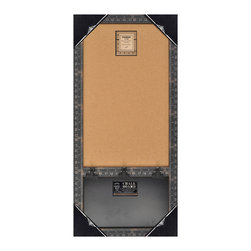 "Enchante Accessories Inc - Wood Framed Wall Message Cork Board & Chalk Bulletin Board 17""x33"" (Black) - This message board features a Distressed Wooden Framed Cork Board / chalkboard combination."