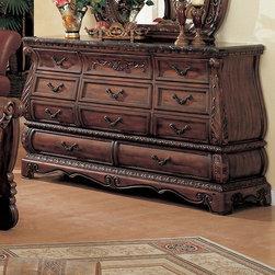 Yuan Tai Furniture - Frontega 11 Drawer Dresser - 6735 - Set includes dresser and mirror