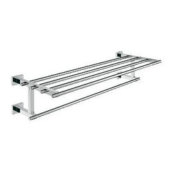 Grohe - Grohe 40512000 Essentials Cube Multi-Towel Rack, Starlight Chrome - Grohe 40512000 Essentials Cube Multi-Towel Rack, Starlight Chrome Grohe bathroom accessories meet the challenge of upscale bathroom design by providing the finishing touches that create a perfectly-designed bathing and showering experience. Perfection in beauty lies in attention to detail and a bathroom is not complete, without a Grohe Essentials Cube Multi-towel Rack. Grohe 40512000 Essentials Cube Multi-Towel Rack, Starlight Chrome Features: Mounting kit included StarLight Chrome Finish Use with Eurocube faucet line Limited Lifetime warranty