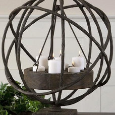 eclectic candles and candle holders by Home Decorators Collection