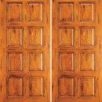 """Exterior Double Door, Knotty Alder 8-Panel, Southwest Home - SKU#SW-87_2BrandAAWDoor TypeExteriorManufacturer CollectionWestern-Santa Fe Entry DoorsDoor ModelDoor MaterialWoodWoodgrainKnotty AlderVeneerPrice1380Door Size Options2(30"""") x 80"""" (5'-0"""" x 6'-8"""")  $02(32"""") x 80"""" (5'-4"""" x 6'-8"""")  $02(36"""") x 80"""" (6'-0"""" x 6'-8"""")  +$202(42"""") x 80"""" (7'-0"""" x 6'-8"""")  +$2002(36"""") x 84"""" (6'-0"""" x 7'-0"""")  +$2002(30"""") x 96"""" (5'-0"""" x 8'-0"""")  +$4002(32"""") x 96"""" (5'-4"""" x 8'-0"""")  +$4002(36"""") x 96"""" (6'-0"""" x 8'-0"""")  +$4202(42"""") x 96"""" (7'-0"""" x 8'-0"""")  +$820Core TypeSolidDoor StyleRusticDoor Lite StyleDoor Panel Style8 PanelHome Style MatchingSouthwest , Log , Pueblo , WesternDoor ConstructionTrue Stile and RailPrehanging OptionsPrehung , SlabPrehung ConfigurationDouble DoorDoor Thickness (Inches)1.75Glass Thickness (Inches)Glass TypeGlass CamingGlass FeaturesGlass StyleGlass TextureGlass ObscurityDoor FeaturesDoor ApprovalsDoor FinishesDoor AccessoriesWeight (lbs)680Crating Size25"""" (w)x 108"""" (l)x 52"""" (h)Lead TimeSlab Doors: 7 daysPrehung:14 daysPrefinished, PreHung:21 daysWarranty1 Year Limited Manufacturer WarrantyHere you can download warranty PDF document."""