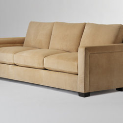 LOOK SOFA STRAIGHT by John Hutton for Holly Hunt - DIMENSIONS: 92W x 39.75D x 33H (with cushions) (234W x 101D x 84H cm)