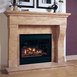 Marble Fireplace Mantels - Chateau - With a delicately curved design, the Chateau marble fireplace mantel is a stunner. Hand carved with love, it's a beautiful piece to add to your home.