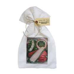 Corn Seed Packet    Flour Sack Towel  Set of 2 - A fabulous set of 3 flour sack towels. This set features a wonderful antique botanical print of an antique Corn Seed Packet.   These towels are printed in the USA by American Workers!
