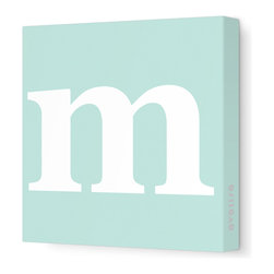 "Avalisa - Letter - Lower Case 'm'  Stretched Wall Art, 12"" x 12"", Sea Green - Spell it out loud. These lowercase letters on stretched canvas would look wonderful in a nursery touting your little one's name, but don't stop there; they could work most anywhere in the home you'd like to add some playful text to the walls. Mix and match colors for a truly fun feel or stick to one color for a more uniform look."