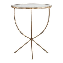 Jules Large Accent Table - Every living room has room for a pretty little cocktail table. Or to add some glamour to the bath, position this near the tub for your wine glass and book.