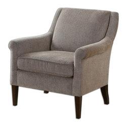 Uttermost - Uttermost 23128 Nelle Herringbone Arm Chair - Uttermost 23128 Nelle Herringbone Arm Chair