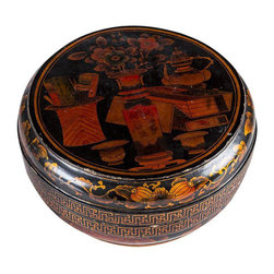 Black Lacquer Asian Rice Box - $650 Est. Retail - $225 on Chairish.com -