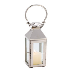 """Riado - Classic Mogador Lantern 11"""" PN - Minimalism! These traditional style lanterns are found all over the luxury homes and hotels and are great to light the entrance, the yard, or simply cluster around the pool, at sunset."""