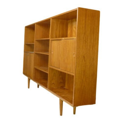 Mid Century Danish Teak Bookcase - RetroPassion21