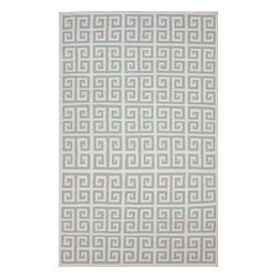 Jaipur Rugs - Flat Weave Geometric Pattern Blue Wool Handmade Rug - UB06, 8x10 - A range of beautifully designed flat weaves in a stunning color palette. Hand woven from 100% wool, each rug has its own personality and is versatile and easy to use.