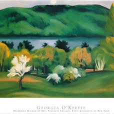 Lake George, Early Moonrise Spring, 1930 Print by Georgia O'Keeffe at Art.com