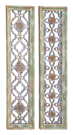 Benzara - Contemporary The Mystical Wood Wall Panel 2 Assorted Home Decor - Contemporary and modern inspired style the mystical wood wall panel 2 assorted living and family room home accent decor