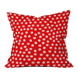 DENY Designs - Rebecca Allen The Lady Of Shalott Red Throw Pillow - Wanna transform a serious room into a fun, inviting space? Looking to complete a room full of solids with a unique print? Need to add a pop of color to your dull, lackluster space? Accomplish all of the above with one simple, yet powerful home accessory we like to call the DENY throw pillow collection! Custom printed in the USA for every order.