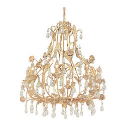 Crystorama - Crystorama 4908-CM Athena 8 Light Chandeliers in Champagne - Athena collection offers casual yet elegant, whimsical and chic chandeliers and wall sconces.