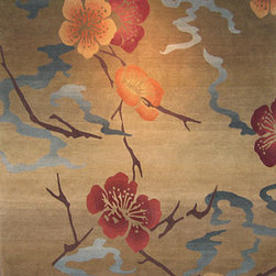 Tibet Rug Company - Hand Knotted Tibetan Rug - A 4x6 Tibetan rug hand knotted in Nepal. 100 knots per square inch.