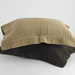 Traditions by Pamela Kline - Traditions Linens Farrah Standard Pillow Sham - 371802900008 - Shop for Pillowcases and Shams from Hayneedle.com! Protect your pillows with the Traditions Linens Farrah Standard Pillow Sham. Available in rich beautiful colors this standard sham is super soft - a great place to lay your head after a stressful day. It's machine washable and a perfect complement to your coverlet. Finished with a flanged edge.About Traditions LinensBased in Claverack N.Y. Traditions Linens is a family business that has been a leader in the world of home textiles bed linen design and manufacturing for more than 35 years. Drawing inspiration from her background in antiques the beauty of the Hudson Valley and her frequent travels Pamela Kline creates fine bedding collections that layer texture color and pattern in all-natural fibers and with meticulous attention to detail. The company's product line includes blankets sheet sets quilts towels window treatments duvet covers decorative pillows and more. Their products can be found in specialty boutiques home furnishing stores catalogs and online retailers in the United States Canada Europe South America and Asia.