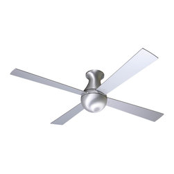 "Modern Fan Company - Modern Fan Company Ball Hugger Brushed Aluminum 42"" Ceiling Fan + Wall Control - Features:"
