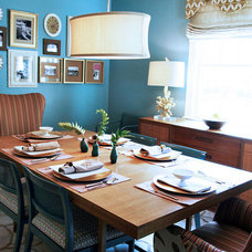 Eclectic Dining Room by Lucy and Company