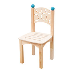 CedarWorks - Playroom Chair - Made from the same high quality materials and craftsmanship as our Rhapsody playsets, our chairs are the perfect size for little legs and come in your choice of finial color: red, light blue, blue, or green. Assembly is required.