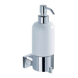 Kraus - Kraus Aura Wall-Mounted Ceramic Lotion Dispenser - Add a touch of elegance to your bathroom with a stylish Wall-mounted Ceramic Lotion Dispenser from Kraus.