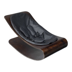 bloom - Bloom Coco Cappucino Stylewood Baby Lounger, Midnight Black - Coco stylwood belongs in contemporary living spaces with its iconic form and comfortable nest for baby formed in stylwood coco stylewood has a smooth self-rocking motion, naturally soothing to baby.  Features
