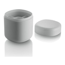 Alessi - Alessi Birillo Cotton Swabs Holder - Get one step closer to your dream bathroom with this stylish cotton swab holder. It keeps small essentials hidden in plain sight, creating a modern, clutter free look. Part of Piero Lissoni's stylish bath collection, which transforms the ordinary into the extraordinary.