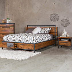 Insigna Bedroom - Insigna Queen Storage Bed, High Chest, Nightstand