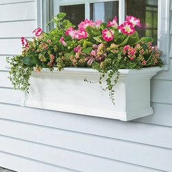 Self-Watering Window Boxes - These self-watering window boxes would be very useful during the hot months of summer.