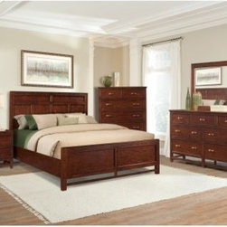 Craftsman Cherry Panel Bed - Clear Cinnamon Cherry - As the centerpiece of the Craftsman Cherry collection from Cresent Fine Furniture, the Craftsman Cherry Panel Bed – Clear Cinnamon Cherry gives prominent place to authentic Craftsman details and the beautiful grain characteristics of solid Appalachian cherry wood. A 14-step hand-applied finish process and clear cinnamon stain deepen and enrich the color and characteristics of this bed's sustainably forested American hardwood. Styled for the master bedroom but sized for any sleeping space, this Craftsman-style bed comes in your choice of full/double, queen, king, and California king sizes. The queen and king sizes include the additional option of a storage footboard, which features two cedar-lined drawers with whisper-close guides and pewter-finished hardware (the drawers measure 20D x 6.5H, with queen widths of 25.5 inches and king widths of 34 inches).About Cresent Fine FurnitureBased in Gallatin, Tennessee, Cresent Fine Furniture was founded in 1947 with a mission of creating solid wood furniture that meets a higher level of craftsmanship. The same families that founded and managed Cresent from the beginning are now in their third generation of business. Cresent is fully committed to providing heirloom-quality furniture using traditional woodworking techniques and the finest solid wood species, including sustainably harvested American hardwoods. Inspired by traditional, country, neo-classical, and contemporary design, Cresent's furniture collections provide exceptional beauty, strength, and longevity for today's quality-conscious shoppers.