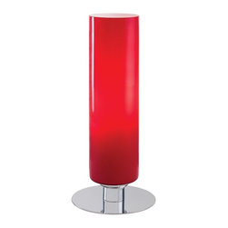 George Kovacs - P664 Portables 1-lt Accent Lamp - 1 Light Table Lamp w/ Glossy Red Glass