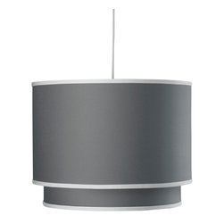 Oilo - Solid Double Cylinder, Stone - The double drum shade is a fresh take on the classic drum design. The interior shade adds visual interest and color to the overall look. And a white acrylic sheet diffuses the light and gives you soft illumination in any room.
