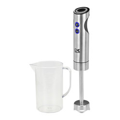 Kalorik - Handheld Blender With Measuring Cup - An immersion blender is a must in the kitchen. You can easily whip up soups and batters, and this one even comes with a measuring cup that can be used to mix ingredients. This would make a great gift for anyone who loves to cook.