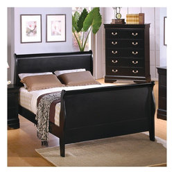 Wildon Home � - Brownsmead Sleigh Bed - Create a casual contemporary feel in your bedroom with this queen sleigh bed.The simplicity of this queen sleigh bed will allow you to rest easy. Features: -Casual style.-Smooth rounded edges and straight legs.-Wooden slats.-Distressed: No.Dimensions: -Dimensions: 62'' H x 38'' W.-Overall Product Weight: 88 lbs.
