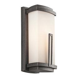 Kichler Lighting - Kichler Lighting 49110AVI Leeds Anvil Iron Outdoor Wall Sconce - Kichler Lighting 49110AVI Leeds Anvil Iron Outdoor Wall Sconce