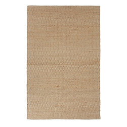 Jaipur - Natural Fiber Andes 9'x12' Rectangle Stone Area Rug - The Andes area rug Collection offers an affordable assortment of Natural Fiber stylings. Andes features a blend of natural Stone color. Flat Weave of 80% Jute 20% Cotton the Andes Collection is an intriguing compliment to any decor.
