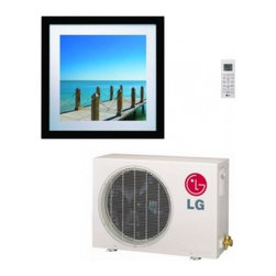 LG - Art Cool Gallery LA120HVP 11 200 BTU Cooling Capacity Mini Split Air Conditioner - The LG LA120HVP Art Cool Gallery Wall Mounted Heat Pump Mini Split System is 16 SEER rated and includes 1 LAU120HVP Outdoor Condenser and 1 LAN120HVP Indoor Unit This single zone system uses a heat pump to provide both heating and cooling to your hom...