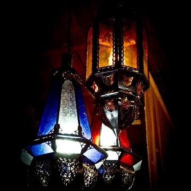 Beautiful Exotic pendant lights - Iron & glass pendant light.