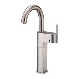 "Danze - Danze D201542BN Brushed Nickel Vessel Filler One Handle - Danze D201542BN Single Handle Vessel Filler is part of the Como collection.  D201542BN Single hole mount with a 5 1/2"" long and 13 1/2"" high swivel spout.  Includes metal grid strainer drian with cover for vessels with or without overflow.  D201542BN meets all requirements of ADA, California and Vermont compliant."