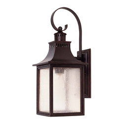Savoy House - Savoy House 5-258-13 Monte Grande Wall Mount Lantern - A grand welcome for any stately address ? at an incredible price. finished in English Bronze with pale cream seedy glass, these fixtures create an easy appearance of unmistakable exterior elegance.