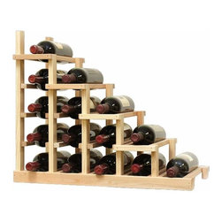 Wine Cellar Innovations - Vintner Series Wine RacK - 1 Column Waterfall Falling Right - The Vintner Series WATERFALL1 Display provides the perfect showcase for the prized wine bottles you would like to show off. Individual bottle wine storage cascades down with a waterfall of display bottles on top. This waterfall option is compatible with the Vintner 5 column individual rack and can be combined with the WATERFALL2 and WATERFALL3 to create a larger cascade. You can have a waterfall display come out from a wall to the center of a room for a dramatic display effect. You may also choose to line a waterfall wine display along a wall. To achieve this unique look, we have a single bottle deep option that we have designed both in a left and right falling option. Product requires assembly. Moldings and platforms sold separately. Assembly required.