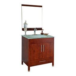 Bellaterra - 32.3 In Single Sink Vanity - Wood - Walnut - If you. Dimensions: 32.3 in. x 21.3 in.