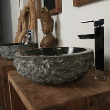 tropical bathroom sinks by Mikaza Home