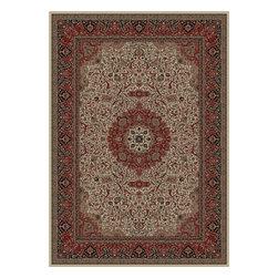 Concord Global - Persian Classics 2' x 3' Rectangle Traditional - Persian Classics 2032-Ivory 2' x 3'.3