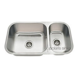 PolarisSinks - Polaris pb8123l Offset Double Bowl Polaris Stainless Steel Sink - Stainless Steel is the most popular choice for today's kitchens due to its clean look and durability. The beautiful brushed satin finish helps to hide small scratches that may occur over the lifetime of the sink. Our Stainless Steel sinks are made from high quality 18 gauge steel. Most models are made of one piece construction that ensures the sturdiest kitchen sink you will find. Our sinks are made from 304 grade stainless steel that contains 18% chromium and 8-10% nickel and are guaranteed not to rust. Each sink is fully insulated and has a sound dampening pad. Our stainless steel sinks are backed by a Limited lifetime warranty. Each sink comes with a cardboard cutout template and mounting hardware.