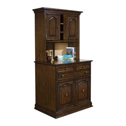 Pulaski - Accents Work Center Base in Hazelnut Finish - Deck is optional