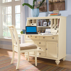 WorkSpace and Home Office | Smart Furniture - Feel productive with this shabby chic secretary and desk. Find more to complete your home office at SmartFurniture.com