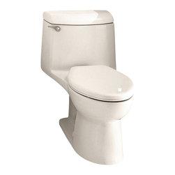 American Standard - Champion 4 Elongated One-Piece Toilet in Linen - American Standard 2004.014.222 Champion 4 Elongated One-Piece Toilet in Linen.