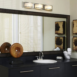 Frame your mirrors! - After! Adding a frame to your existing vanity mirror can take it from blah to bling!